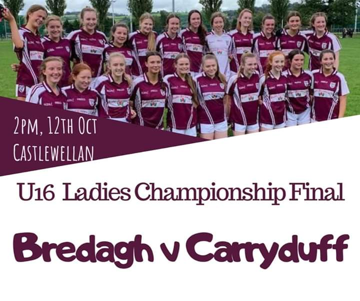 Bredagh U16 girls in Championship Final